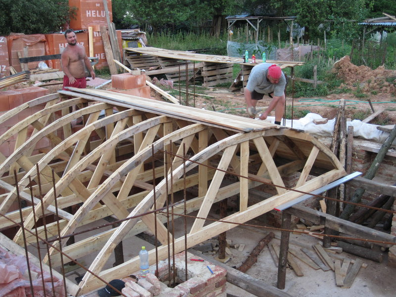 Building A Cross Barrel Vaulted Ceiling